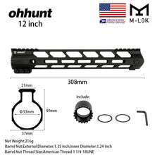 Load image into Gallery viewer, 12 Inch Lightweight M-Lok Handguard