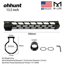 Load image into Gallery viewer, 13.5 Inch Lightweight M-Lok Handguard