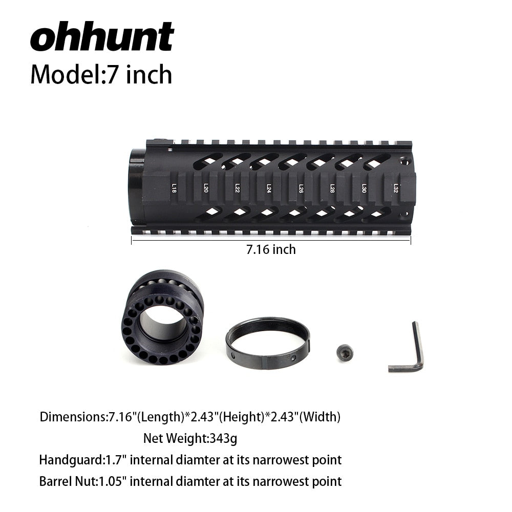 7 Inch Free Float Quad Rail Handguard
