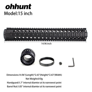 15 Inch Free Float Quad Rail Handguard