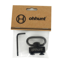 Load image into Gallery viewer, ohhunt Push Button Quick Detach Sling Adapter Mount For Free Float M-lok Keymod Handguard Rails