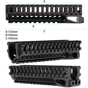 ohhunt Tactical AK System Railed Handguard Lower Standard Picatinny Rail for AK AEG Airsoft GBB Rifles