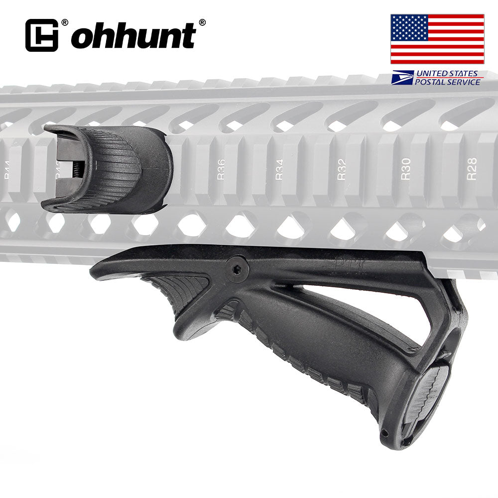 Ohhunt Tactical Versatile Support Hand Guard Front Grip Polymer Black Fits On All 1913 Picatinny Rails