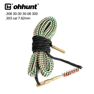 ohhunt Bore Snake .308 30-30 30-06 300 .303 cal 7.62mm Boresnake Rifle Cleaner Kit
