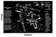 Load image into Gallery viewer, Ohhunt Armorers Bench Mat Gun Cleaning Mat Parts Diagram & Instructions Gun Split Picture Economy Gaming Mouse Pad