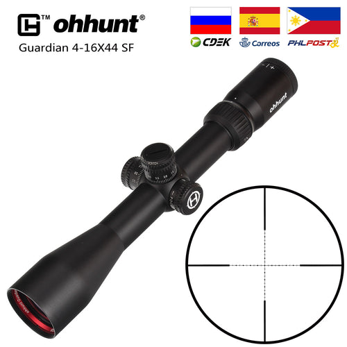 ohhunt Guardian 4-16X44 SF Hunting Rifle Scope 1/2 Half Mil Dot Reticle Side Parallax Turrets Lock Reset