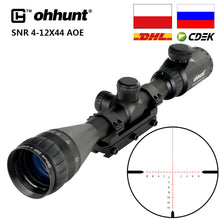 Load image into Gallery viewer, ohhunt SNR 4-12x42 AOE Hunting Riflescope Red Illuminated Glass Etched Reticle Sniper Optic Rifle Scope Sight with Ring