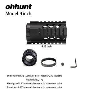 4 Inch Free Float Quad Rail Handguard
