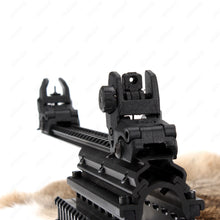 Load image into Gallery viewer, Ohhunt 5 pairs Polymer AR 15 Tactical Flip up Front Rear Sight Set Sights  For 1913 Picatinny Rail