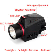 Load image into Gallery viewer, ohhunt Tactical Hunting Red Green Laser Sight LED Flashlight Integrated Combo Nylon Material for Weaver Picatinny Rail Mount