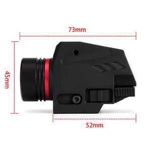 ohhunt Tactical Hunting Red Green Laser Sight LED Flashlight Integrated Combo Nylon Material for Weaver Picatinny Rail Mount