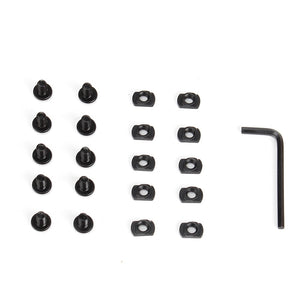 ohhunt 10 Sets Pack Steel M-LOK T-Nut Standard Screw Replacement Set Allen Wrench for Rail Sections (10 x Screws and 10 x Nuts)