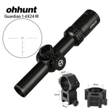 Load image into Gallery viewer, ohhunt Guardian 1-6X24 Hunting Rifle Scopes Compact Glass Etched Reticle llluminate Turrets Lock Reset Tactical Optical Sight