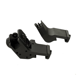 ohhunt Front and Rear 45 Degree Offset Hunting Tactical Rapid Transition BUIS Backup Iron Sight Set Free Shipping