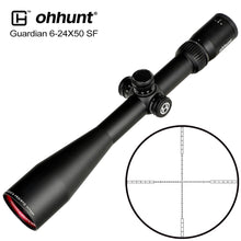Load image into Gallery viewer, ohhunt Guardian 6-24X50 SF Hunting Rifle Scopes Side Parallax 1/2 Half Mil Dot Glass Etched Reticle Turrets Lock Reset Scope