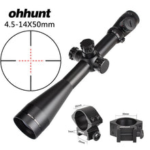 Load image into Gallery viewer, ohhunt 4.5-14X50 Hunting Rifle Scope Riflescope Side Parallax Adjustment Glass Etched Mil Dot Reticle Illuminated Tactical Sight