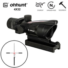 Load image into Gallery viewer, ohhunt® 4x32 Hunting Rifle Scopes Real Fiber Optics Red or Green Glass Etched Reticle Tactical Sights Rifle Scope Free Shipping