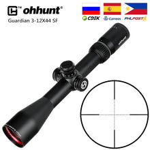 Load image into Gallery viewer, ohhunt Guardian 3-12X44 SF Hunting Rifle Scope 1/2 Half Mil Dot Reticle Side Parallax Turrets Lock Reset Tactical