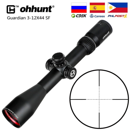 ohhunt Guardian 3-12X44 SF Hunting Rifle Scope 1/2 Half Mil Dot Reticle Side Parallax Turrets Lock Reset Tactical Riflescopes