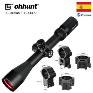 ohhunt Guardian 3-12X44 SF Hunting Rifle Scope 1/2 Half Mil Dot Reticle Side Parallax Turrets Lock Reset Tactical