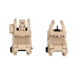 Ohhunt Polymer AR 15 Tactical Flip up Front Rear Sight Set Windage Adjustment For 1913 Picatinny Rail handguards