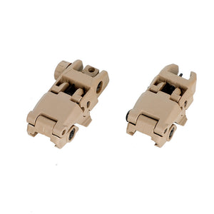 Ohhunt Polymer AR 15 Tactical Flip up Front Rear Sight Set Sights Windage Adjustment For 1913 Picatinny Rail handguards