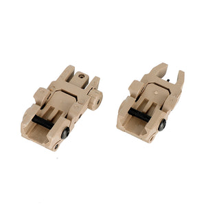 Ohhunt 5 pairs Polymer AR 15 Tactical Flip up Front Rear Sight Set Sights  For 1913 Picatinny Rail