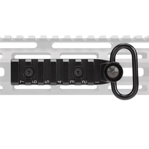 ohhunt Handguard M-LOK Link Picatinny Rail Section 7 Slots with Qucik Detachable Sling Swivel QD Attachment Feature