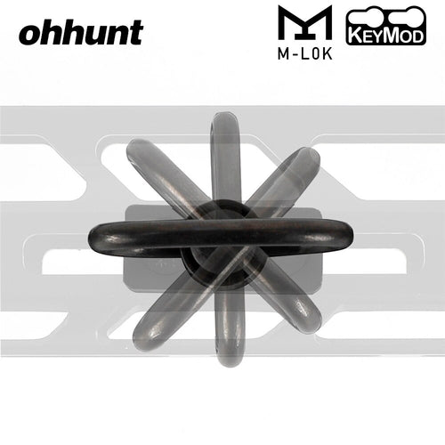 ohhunt Push Button Quick Detach Sling Adapter Mount For Hunting Tactical Rifle Free Float Keymod M-LOK Handguard Rails