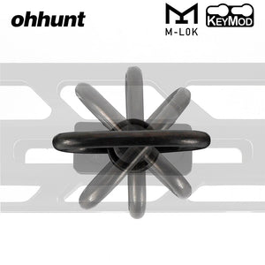 ohhunt Push Button Quick Detach Sling Adapter Mount For Hunting Tactical Rifle Free Float Keymod Handguard Rails