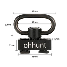 Load image into Gallery viewer, ohhunt Push Button Quick Detach Sling Adapter Mount For Hunting Tactical Rifle Free Float Keymod Handguard Rails