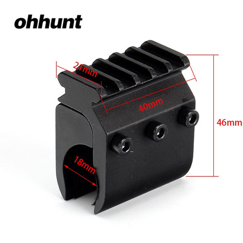 ohhunt 20mm Weaver Picatinny Rail Base Adapter Rifle Barrel Mount Hunting Scope Converter Flashlight Mounts
