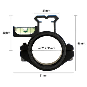 ohhunt Hunting Scope Laser Flashlight Barrel Mount 25.4mm and 30mm Ring Adapter 20mm Weaver Picatinny Rail with Bubble Level