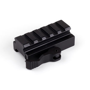 Ohhunt Medium Profile 5 Slot Quick Disconnect Lever 20mm Picatinny Weaver Rail Mount Adaptor and Riser Hunting Scope Accessories