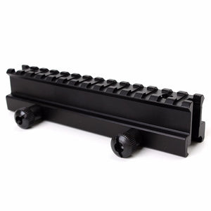 "ohhunt Tactical 1"" Hight 14-slot See Through Full Size AR Riser Mount 20mm Weaver Picatinny Rails Fit AR15 Rifles"