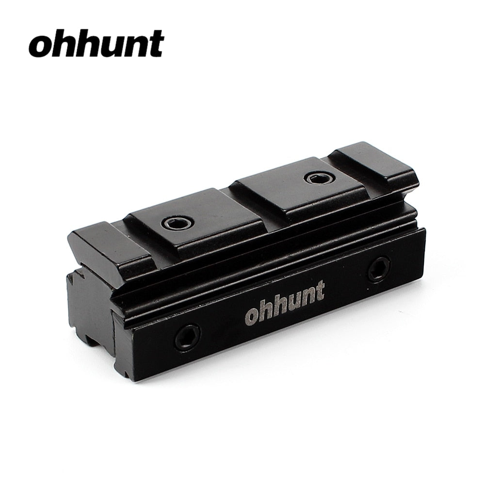 ohhunt Lot 11mm Dovetail Rail to 20mm Weaver Rail Converter Scope Mount Rifle Base With Three Dovetail Rails