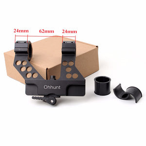 ohhunt Quick Detach AK Side Rail Scope Mount with Integral 1 Inch/30mm Ring For AK47 AK74 Black Free Shipping