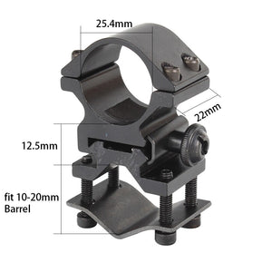 ohhunt Universal Barrel Ring Mount For Tactical 1 inch 25.4mm Rifle Scope Flashlight Laser Torch Shot*gun Quick Release Rings