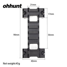 Load image into Gallery viewer, ohhunt MP5 G3 Model 3 Bidirectional Clamp Mount Low Profile 21mm Picatinny Weaver Rail Adapter Hunting Scope Rail Base