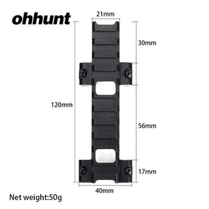 ohhunt MP5 G3 Model 3 Bidirectional Clamp Mount Low Profile 21mm Picatinny Weaver Rail Adapter Hunting Scope Rail Base