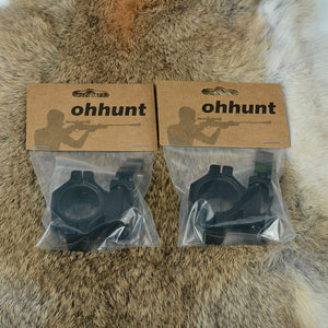 ohhunt 25.4mm 30mm Low Profile 20mm Picatinny Weaver Quick Disconnect Rings Rifle Scope Rail Mount Hunting Tactical Accessories
