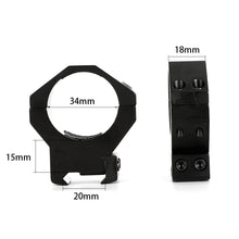 Load image into Gallery viewer, ohhunt 34mm or 35mm Diameter 2PCs Medium High Profile Standard Picatinny Weaver Scope Rings Tactical Hunting Sport Mounts