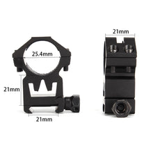 "Load image into Gallery viewer, ohhunt New Style Hunting Scope Mount Accessories 25mm 1""/2PCs Universal High Profile 20mm Picatinny Weaver Scopes Rings"