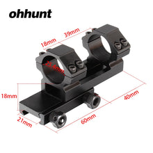 Load image into Gallery viewer, ohhunt 25.4mm Offset 20mm Picatinny Weaver Rings Mount Bi-direction Dia Hunting Tactical Rifle Scope Mounts Accessories