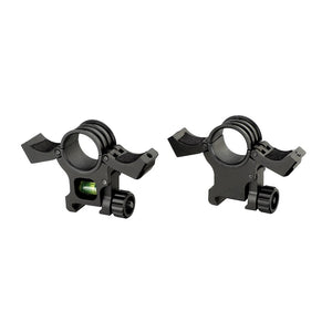 ohhunt 2pcs 1 inch 30mm Scope Weaver Picatinny Rings Mount with Bubble Level Hunting Tactical Rilfescopes Mounts