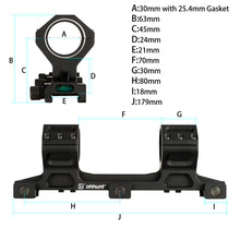 Load image into Gallery viewer, ohhunt 25.4mm 30mm Scope Mounts Picatinny Weaver Rail Hunting Rifle Scope Double Cantilever Heavy Duty Rings with Bubble Level
