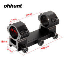 Load image into Gallery viewer, ohhunt 25.4mm High Profile 20mm Picatinny Weaver Rail Rings Mount Hunting Tactical Rifle Scope Bracket Mounts Accessories
