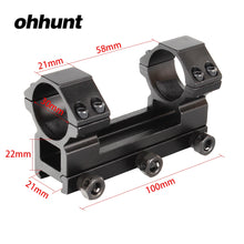 Load image into Gallery viewer, ohhunt 30mm High Profile 20mm Picatinny Weaver Rail Rings Mount Hunting Tactical Rifle Scope Bracket Mounts Accessories
