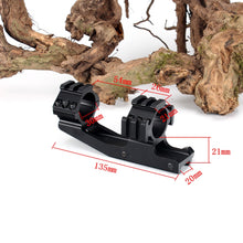 Load image into Gallery viewer, ohhunt Rock-Solid Hunting Tactical Dual Use 30mm Offset Rifle Scope Rings Mount Accessories with Extra Picatinny Weaver Rail
