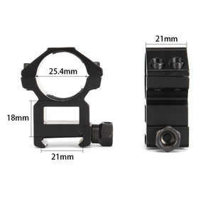 "ohhunt 25.4mm 1"" 2PCs High Profile Picatinny Weaver Rifle Scope Mount Rings 20mm Hunting Tactical Accessories"